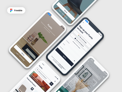 [Freebie] Fumio - Furniture Shop App freebies freebie scanner scan furniture app furniture ux mobile minimalist debuts debut app design clean ui