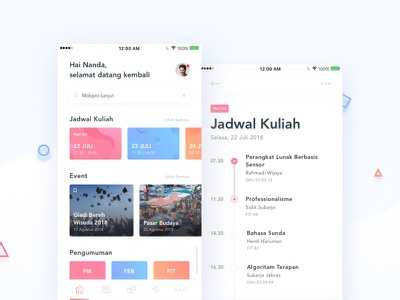 iGracias Mobile Concept mobile schedule to do card first debut ux ui app
