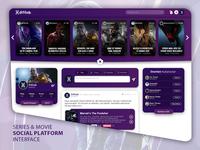 Series & Movie Social Platform Interface