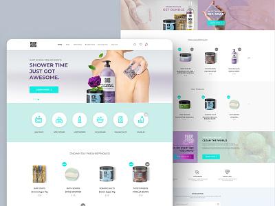 Website Cosmetics & Beauty shopping store online beauty website ui ux website cosmetics  beauty