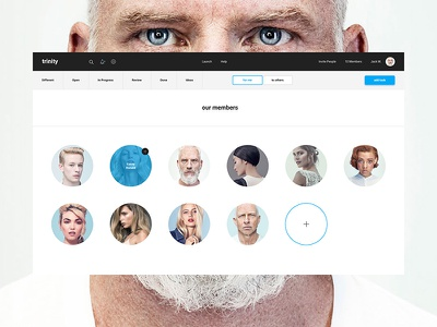 Trinity – Dashboard app ui ux web design typography material flat mobile interface animation program dashboard