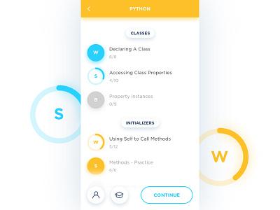 Buildschool App ux ui progress web android ios material application mobile app