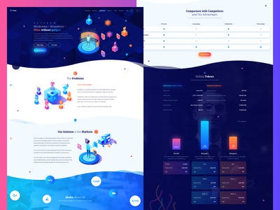iTrue ICO – Blockchain StartUp web design startup ux ui crm saas cryptocurrency app crypto landing ico blockchain