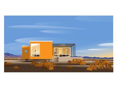 🍊The orange building 🍊 architecture  illustration ui ux