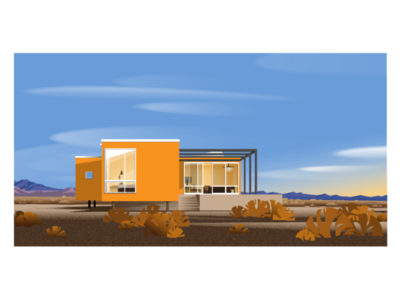 🍊The orange building 🍊 architecture  illustration ui ux