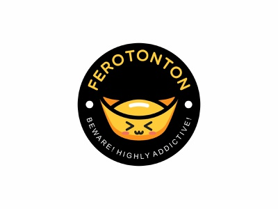 FEROTONTON cute food illustration food branding vector brand icon design logo