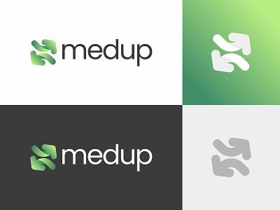 medup hospital logo hospitality hospital app hospital medicine medical branding vector brand symbol icon design logo