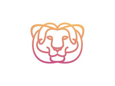 Lion lion branding line vector brand animal symbol icon design logo