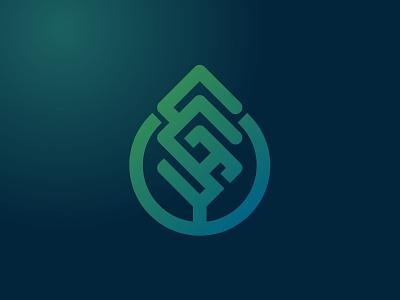 Cgs cypress pine trees letter cgs cgs branding vector line brand symbol icon design logo