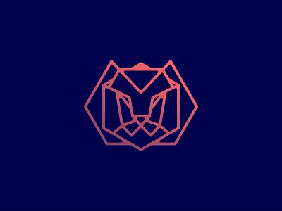 lionsun lion head lion logo lion branding line vector brand animal symbol icon design logo
