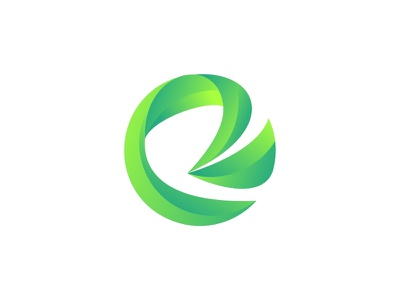 Rotula Makmur Logo gradation green logo circle logo circle letter r letter r branding vector brand symbol icon design logo