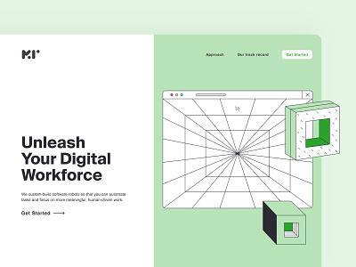 Business Website online digital web uxui minimal landingpage modern design branding landing illustration design interface ui