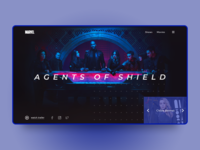 Marvel website design