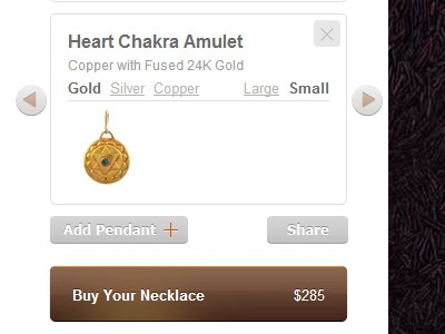 Tulku Jewels ui ux ecommerce store jewelry product button buy order