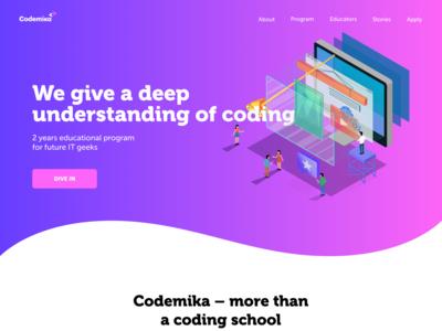 Main page of educational platform