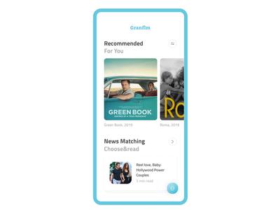 Granflm — Mobile App Design Concept