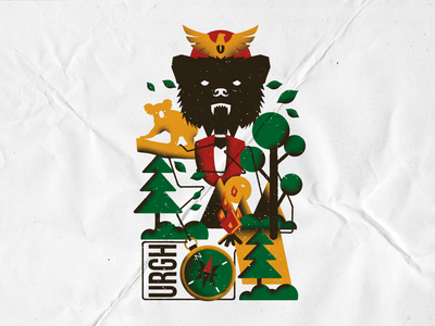 FOREST - URGH! SKATE branding vector lettering merch apparel logo brand clothing graphicdesign illustration design