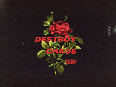 Destroy Chaos branding merch floral bloom flower graphic apparel logo brand clothing graphicdesign illustration design