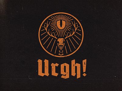 Urgh parody Jägermeister graphic vector merch apparel logo brand clothing graphicdesign jägermeister illustration design