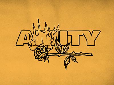 Burning Rose - The Amity Affliction oldschool tattoo vector burning fire rose logo graphicdesign illustration design