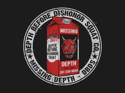 Missing - Depth Before Dishonor Squat Co. typography merch lettering apparel logo brand clothing graphicdesign illustration design