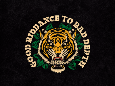 Good Riddance to Bad Depth - DBDS gym jungle tattoo oldschool dbds tiger graphic typography lettering merch apparel logo brand clothing graphicdesign illustration design