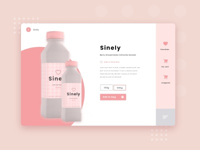 Sinely - Berry Infused Water app idea online store commerce product store online store woocommerce ecommerce minimalist design minimalism product design 3d product render product product page idea product page clean design