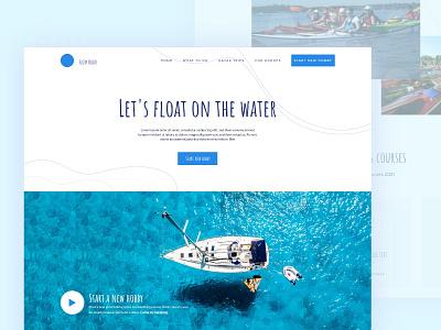 Floty Boats - Sailing Website amatic web design ui landing page clean design sailing ship boats website sailing website sailing