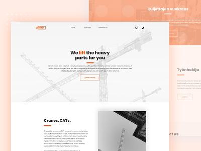 Crantaker - Construction Company website design webdesign accent creative accents flat design construction website construction company orange design clean design