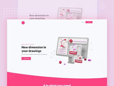 New Dimensions  3D elements concept neumorphism ui neumorphic product render 3d modeling web designer landing page app landing page web uiux web ui web concept 3d app web design clean design 3d elements