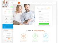 Online Loan Home Page Design