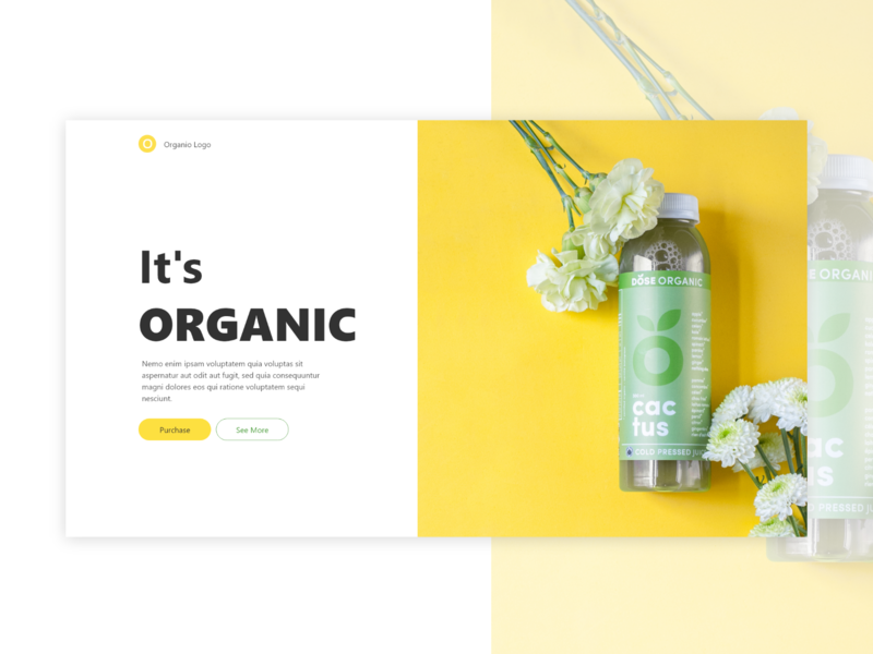 Organico - Web Concept organic art organic food website concept yellow pages beautiful headers clean design