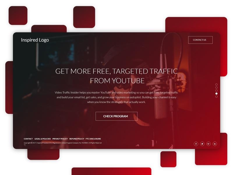 Inspired Gradient video marketing marketing agency video production design header design gradient design