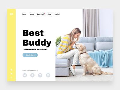 Best Buddy - Online shop for pet accessories web concept website idea platform idea user experience user interface pets website minimalistic design minimalistic online store pet accessories store pet store