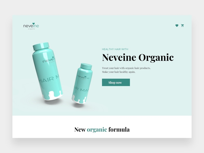 Neveine Organic - Beauty & Hair Products Shop online shopping online shop web concept shop concept 3d render 3d rendering hair products beauty shop beauty product eccomerce online store commerce online store