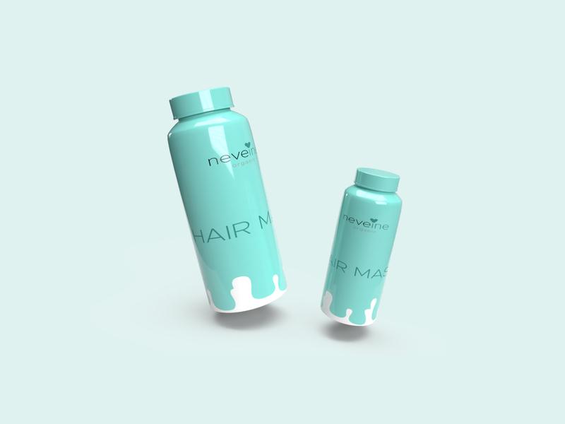 Neveine Hair Mask Product Render adobe dimension 3d modeling package design product design 3d rendering 3d render