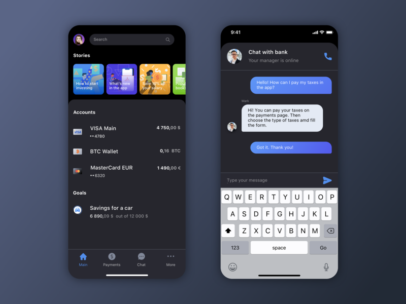Bank app concept 2020 cryptocurrency crypto wallet crypto finance app branding 2020 trend 2020 ios finance banking app banking bank ux uxui ui app