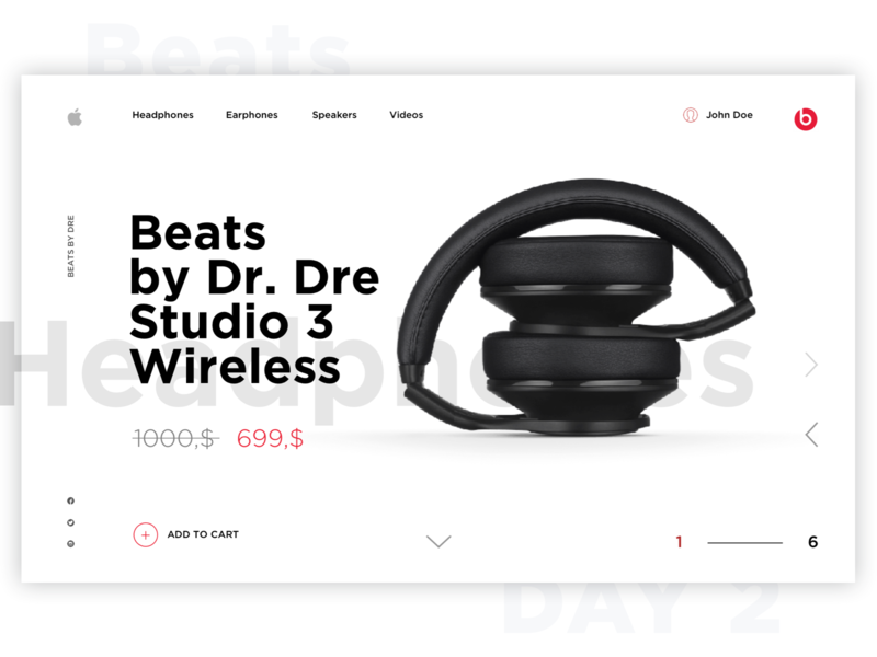 Beats by Dr. Dre Website mainscreen concept beats by dre beats website web apple 2020 trend 2020 uxui ux ui