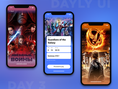 Cinema tickets purchase concept buy page movies tickets cinema online cinema app 2020 trend 2020 uxui ux ui