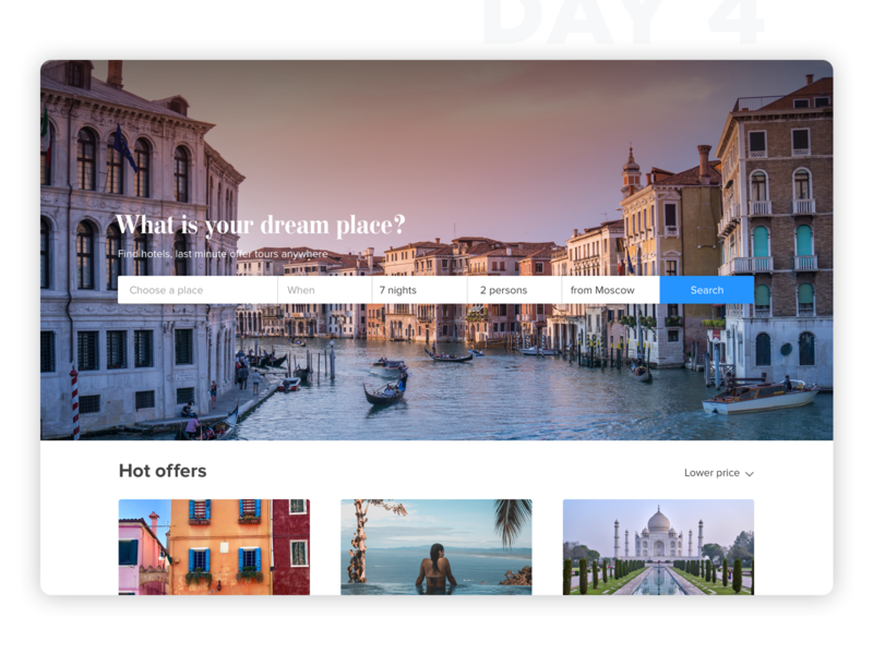 Travel agency website main page concept travelling travel web 2020 trend 2020 uxui ux ui