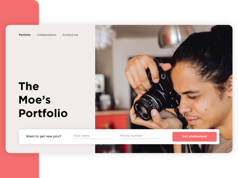 Photographer portfolio   Daily UI - Day 8 website landing page design typography web app 2020 trend 2020 ux ui uxui