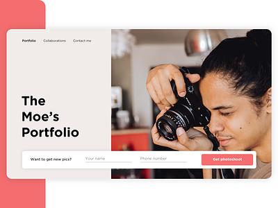 Photographer portfolio | Daily UI - Day 8 website landing page design typography web app 2020 trend 2020 ux ui uxui