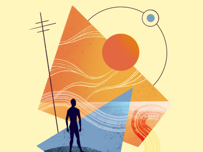 Summer Vibes illustrator graphic holiday sun bright shapes colour texture vibes summer illustration