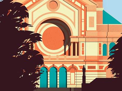 Alexandra Palace design architectural building architecture colour vector illustrator illustration