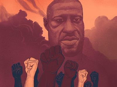Justice For George justice equality fighters racism illustration justiceforgeorge blacklivesmatter