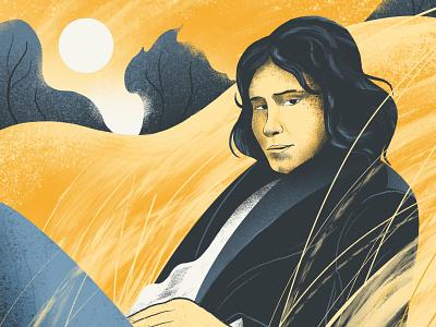 Nick Drake (detail) colour tribute wheat britishfolk folk musician music nickdrake landscape texture procreate illustrator illustration