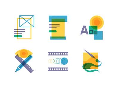 Icon Suite of Design Skills suite branding logo illustrator vector colour illustration animation visual identity brand ux ui design icon