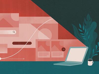 Digital Design procreate laptop digital web design digital design colour vector ux design illustration ui design