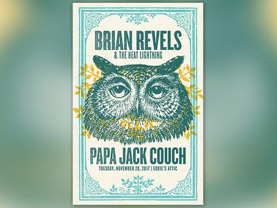 Brian Revels Gig Poster