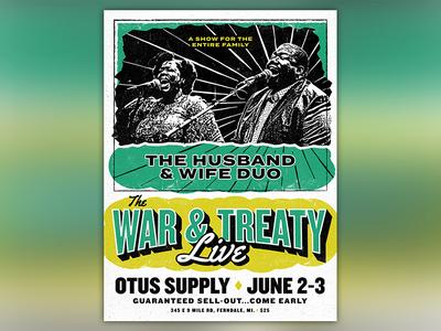 "The War & Treaty ""Live"" Gig Poster"